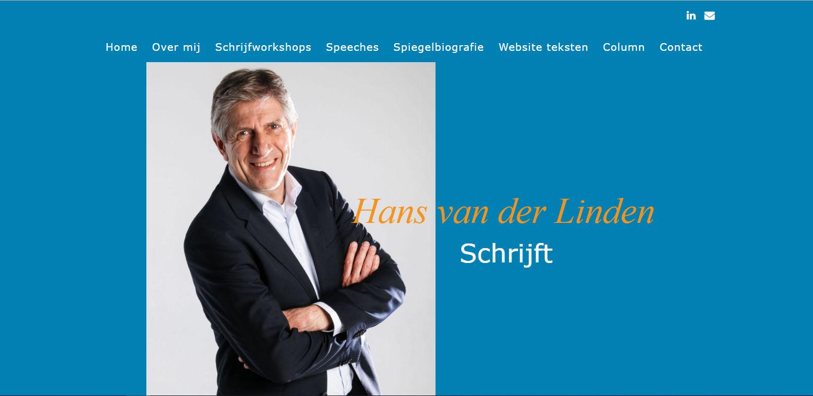 Hans van der Linden Schrijft